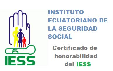 Certificado de honorabilidad Iess