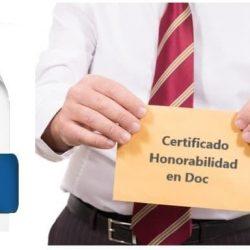 Certificado de honorabilidad doc