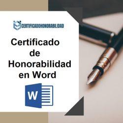certificado de honorabilidad en Word