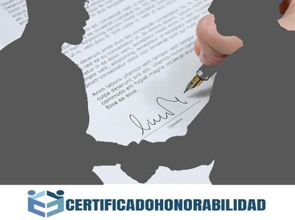 certificado de honorabilidad es muy sencillo de elaborar