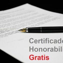 Modelo de Certificado de Honorabilidad Gratis